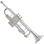 "180S43 Strad Pro Bb Trumpet, Silver Plated, .459"" Bore, 1-Piece #43 Hand Hammered Bell, #25 Leadpipe, Monel Pistons, 7C Mouthpiece, Case"