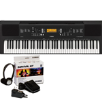 PSREW300KIT Portable, 76 Note, Touch Sensitive, 48 Note Polyphony Keyboard, uses SKB2  Survival Kit